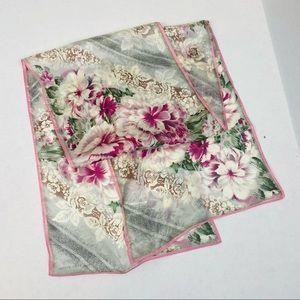 The Vera Studio Pink Rose Silk Scarf